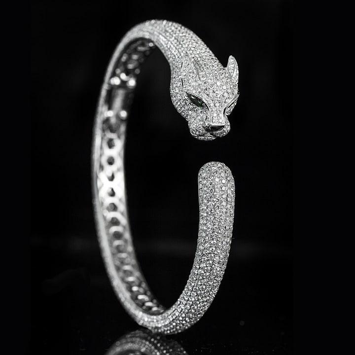 bracelet pantère diamant