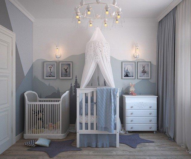 grande chambre pour un bébé